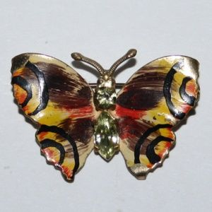 Beautiful vintage butterfly brooch made in Czech